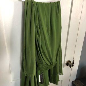 Melansay Women's Chiffon High Waist Maxi Skirt